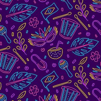 Motif de carnaval brésilien coloré