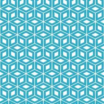 Motif carré bleu