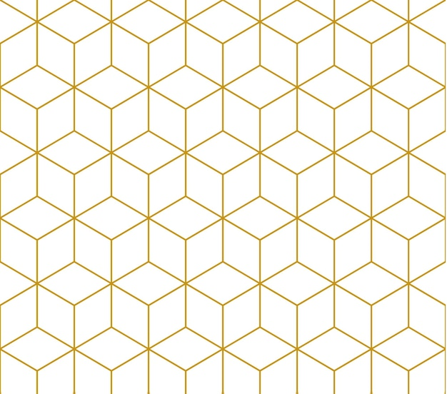 Motif carré contour doré, modèle sans couture de vecteur. motif inclus dans l'échantillon.