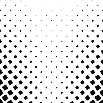 Motif carré monochrome - fond de vecteur