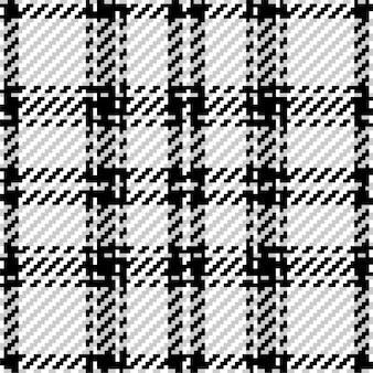 Motif à carreaux à carreaux en noir et blanc