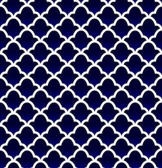 Motif de carreaux de céramique bleu sans soudure