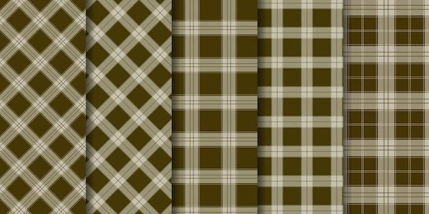 Motif à carreaux tartan sans couture