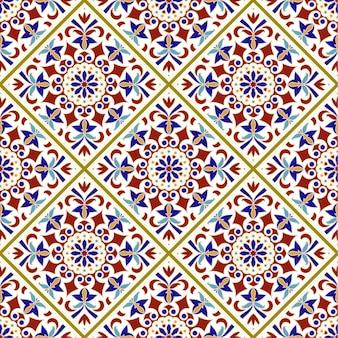 Motif de carreaux vintage avec style turc patchwork coloré