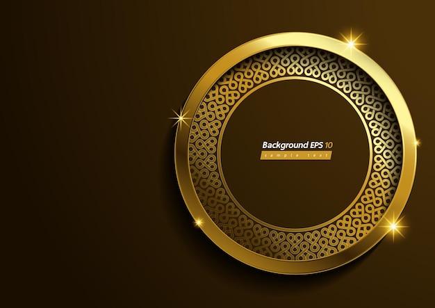 Motif de cercle or de luxe