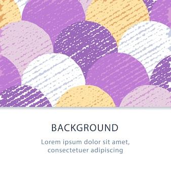 Motif de cercles colorés, fond plat abstrait, toile de fond créative avec texture grunge, illustration, graphisme