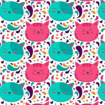 Motif chat coloré