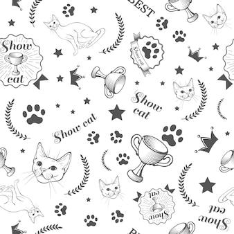 Motif sur les chats d'exposition