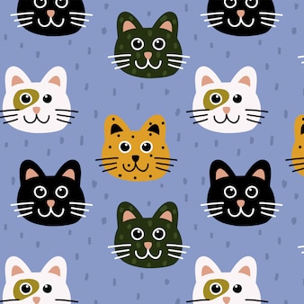 Motif de chats mignons
