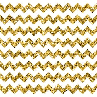 Motif chevron blanc avec effet or scintillant