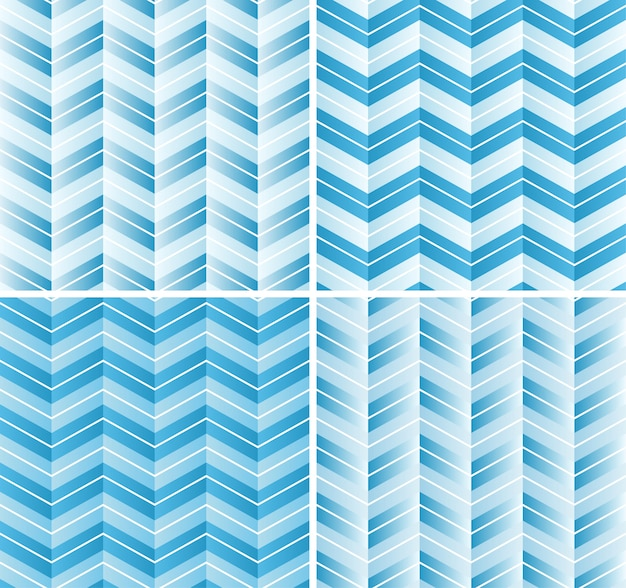 Motif chevron sans couture en dégradé bleu couleur. beau fond pour scrapbook ou photo collage.
