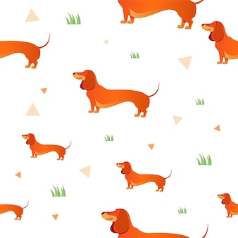 Motif de chiens heureux