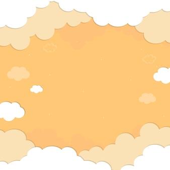 Motif ciel nuageux jaune