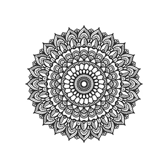 Motif circulaire en forme d'illustration de conception de mandala