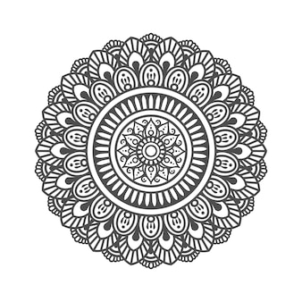 Motif circulaire en forme de mandala. ornement décoratif dans un style oriental ethnique