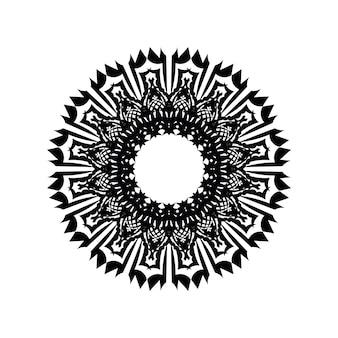 Motif circulaire en forme de mandala pour henna, mehndi, tatouage, décoration. ornement décoratif de style oriental ethnique. page de livre de coloriage.