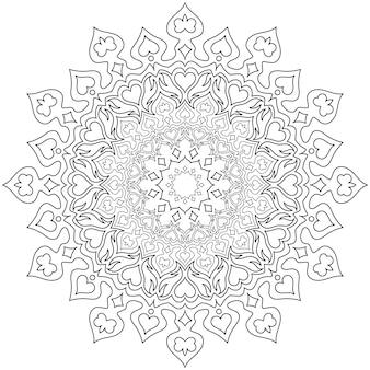 Motif circulaire en forme de mandala pour henné