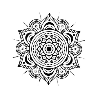 Motif circulaire en forme de mandala
