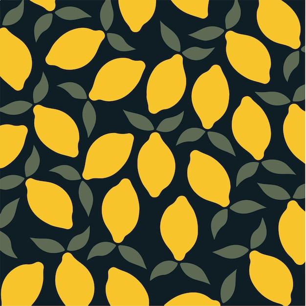 Motif citron fond médias sociaux post fruit illustration vectorielle