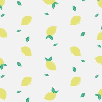 Motif de citron jaune frais d'été