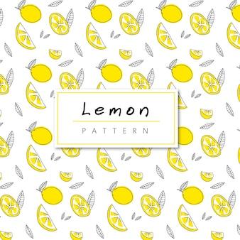 Motif citron sans couture