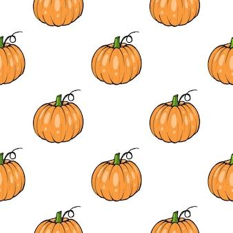 Motif citrouille - courge pour halloween ou icône de couleur plate de thanksgiving pour les applications et les sites web