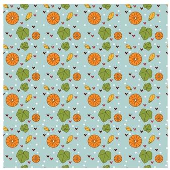 Motif de citrouille et de feuilles pour la saison d'automne