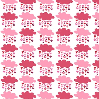 Motif coeur nuage saint valentin pour carte de voeux