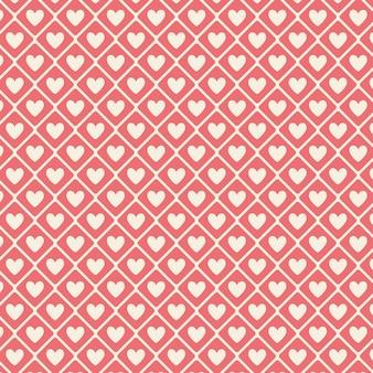 Motif coeur valentine