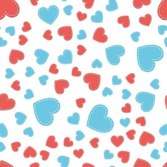 Motif de coeurs aléatoire. fond de saint valentin pour modèle de vacances. illustration de style créatif et de luxe