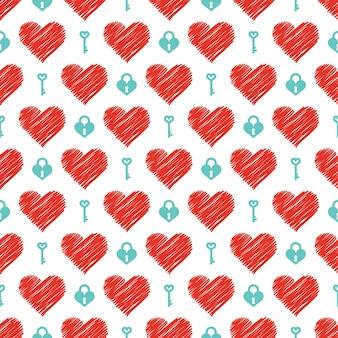 Motif coeurs colorés. fond de saint valentin pour modèle de vacances. illustration de style créatif et de luxe