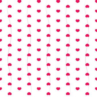 Motif avec des coeurs roses