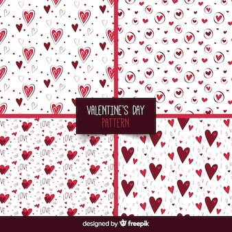 Motif coeurs saint valentin