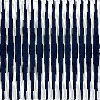 Motif de colorant indigo sans couture sashiko avec broderie japonaise traditionnelle blanche