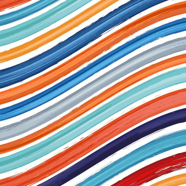 Motif coloré avec des coups de pinceaux sur fond blanc. texture abstraite