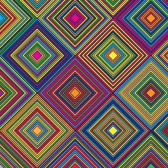 Motif coloré de diamant sur le thème aztèque