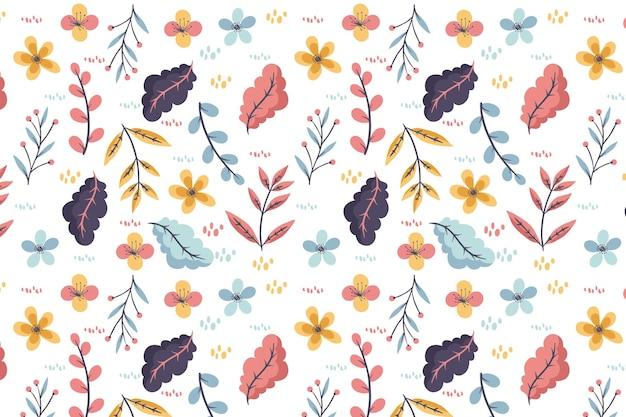 Motif coloré avec des fleurs