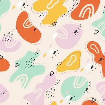 Motif coloré de formes abstraites