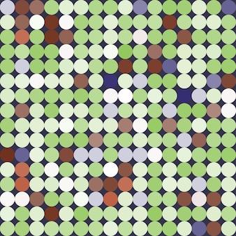 Motif coloré géométrique abstrait sans couture avec des cercles, des points. fond de vecteur dans des couleurs douces pour votre conception