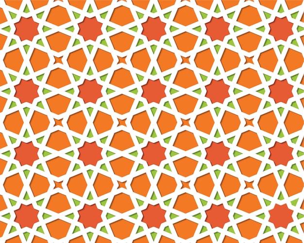 Motif coloré islamique