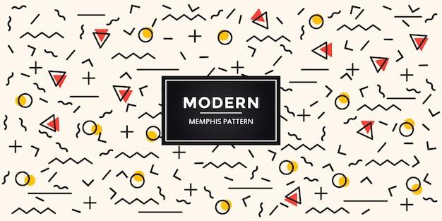 Motif coloré moderne avec des formes géométriques