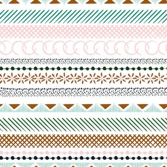 Motif coloré sans couture avec des formes géométriques