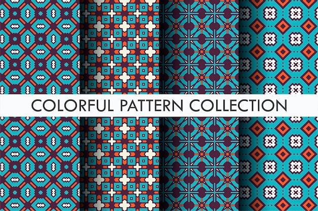Motif coloré serti de style de motif abstrait