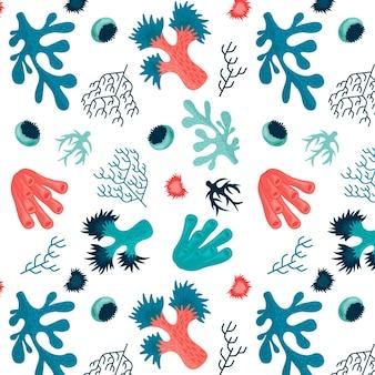Motif corail aux algues