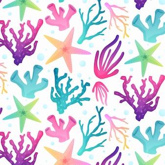 Motif corail coloré