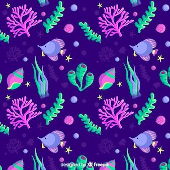 Motif corail plat