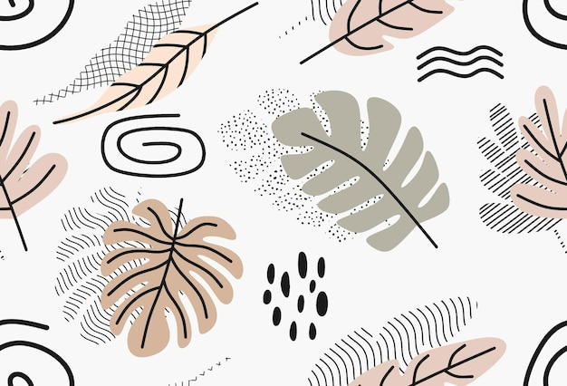 Motif de couleur avec des feuilles.