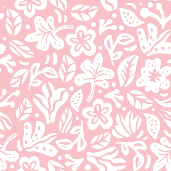 Motif de couleur floral sans soudure. style classique vintage décoratif avec des fleurs et des formes abstraites