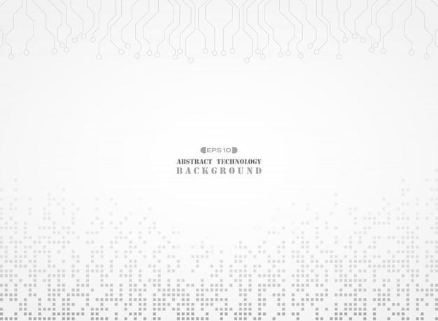 Motif de couleur gris numérique de fond électronique