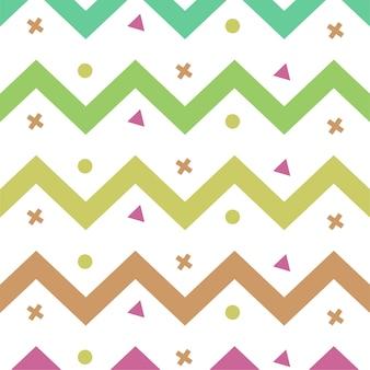 Motif de couleur des lignes de zigzag colorées